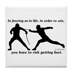 Get Hurt Tile Coaster
