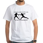 Get Hurt White T-Shirt