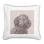 American Water Spaniel Square Canvas Pillow