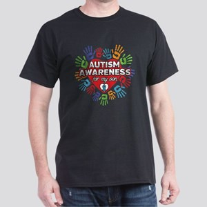 Autism Awareness for my Son Dark T-Shirt