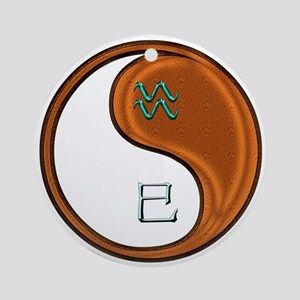 Aquarius & Wood Snake Round Ornament