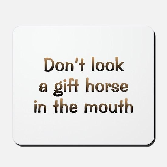 CW Gift Horse Mousepad