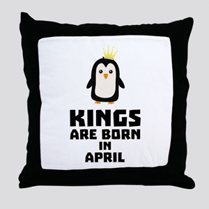 kings born in APRIL Cx14z Throw Pillow
