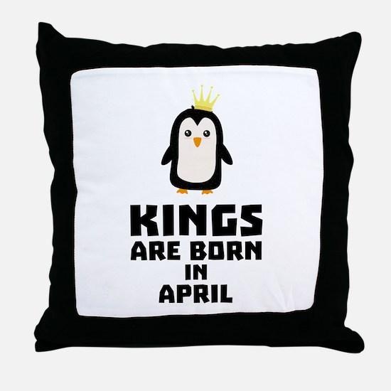kings born in APRIL Cx14z Throw Pillow