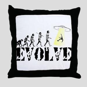 Alien Abduction UFO Throw Pillow