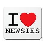 I Love Newsies Mousepad