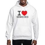 I Love Newsies Hooded Sweatshirt