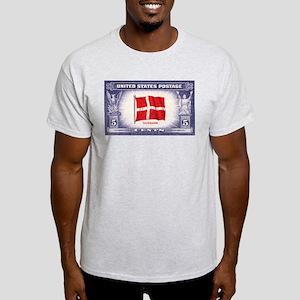 Flag of Denmark Ash Grey T-Shirt