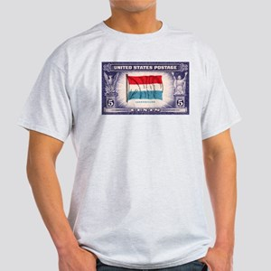 Flag of Luxembourg Ash Grey T-Shirt
