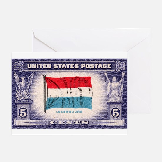 Flag of Luxembourg Greeting Cards (Pk of 10)