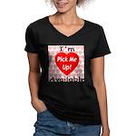 Everlasting Love Heart Women's V-Neck Dark T-Shirt