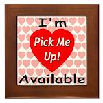 Everlasting Love Heart Framed Tile