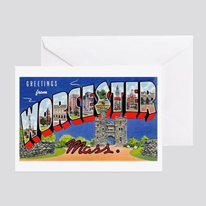 Worcester Massachusetts Greetings Greeting Card
