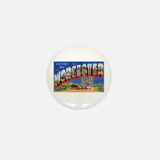 Worcester Massachusetts Greetings Mini Button