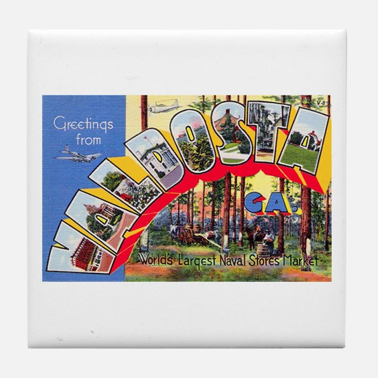 Valdosta Georgia Greetings Tile Coaster