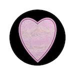 """Pink Heart 3.5"""" Button"""