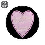 "Pink Heart 3.5"" Button (10 pack)"