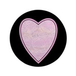 "Pink Heart 3.5"" Button (100 pack)"