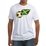 Jamaica Football Flag Fitted T-Shirt