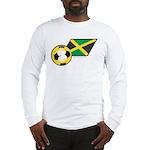 Jamaica Football Flag Long Sleeve T-Shirt