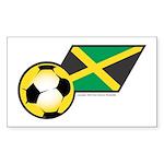 Jamaica Football Flag Rectangle Sticker
