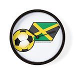 Jamaica Football Flag Wall Clock