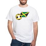 Jamaica Football Flag White T-Shirt