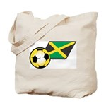 Jamaica Football Flag Tote Bag