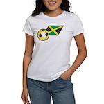 Jamaica Football Flag Women's T-Shirt
