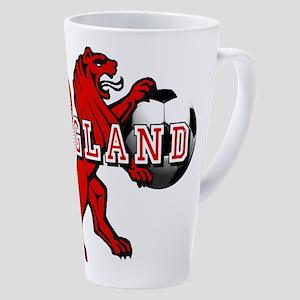 England Football Lion 17 oz Latte Mug