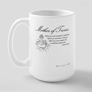 Mom of Twins - Before Large Mug