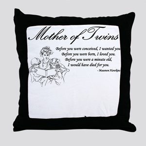 Mom of Twins - Before Throw Pillow