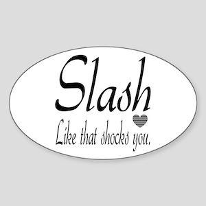 Slash Oval Sticker