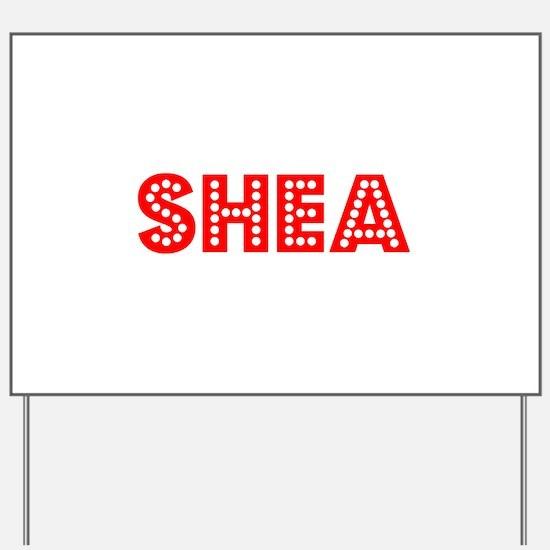 Retro Shea (Red) Yard Sign