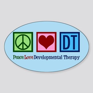 Peace Love DT Sticker (Oval)