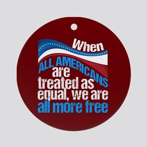 Equality in America Round Ornament