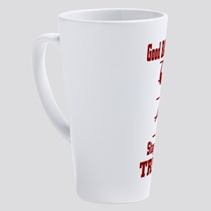 Good Bass Players Stay Out Of Treb 17 oz Latte Mug