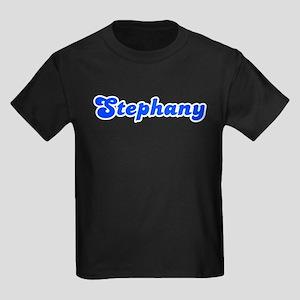Retro Stephany (Blue) Kids Dark T-Shirt