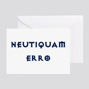 Neutiquam Erro Greeting Cards (Pk of 10)