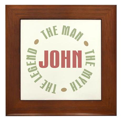 John Man Myth Legend Framed Tile
