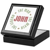 John man myth legend Square Keepsake Boxes