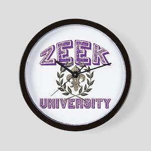 Zeek Last Name University Wall Clock