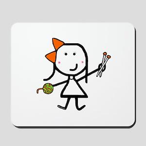 Girl & Knitting Mousepad