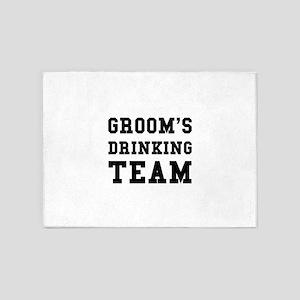 Wedding Grooms Drinking Team 5'x7'Area Rug