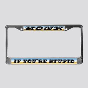 Cheezee Teez License Plate Frame