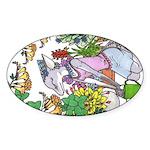 """Flowerbaby"" Oval Sticker"
