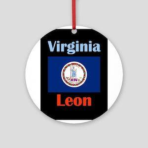 Leon Virginia Round Ornament