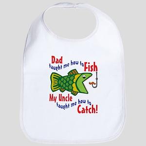 Dad Uncle Fish Bib