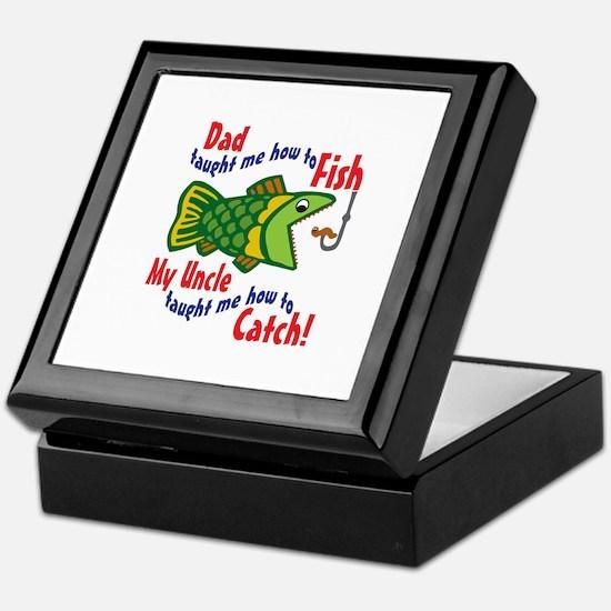 Dad Uncle Fish Keepsake Box