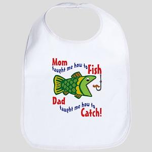 Dad Mom Fishing Bib